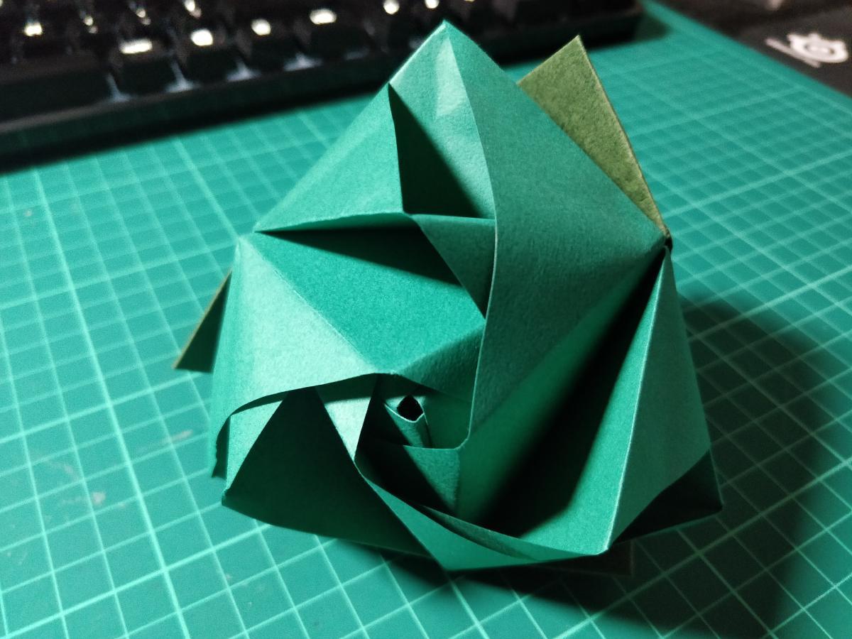 Modular Origami Magic Rose Cube Folding Instructions | 900x1200